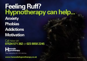 Hancocks Hypnotherapy poster