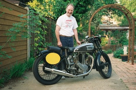 John's 1946 500cc 'Model 18' Norton in road legal guise!