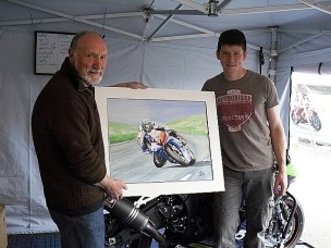 In the TT paddock (2011) with Manx ace Dan Kneen