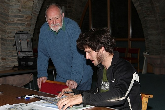 John with Guy Martin who both signed a limited edition of 50 prints, sales of which raised £1500 for the Manx Grand Prix Helicopter fund (TT 2011)