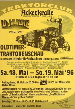 German TraktorClub Event Poster