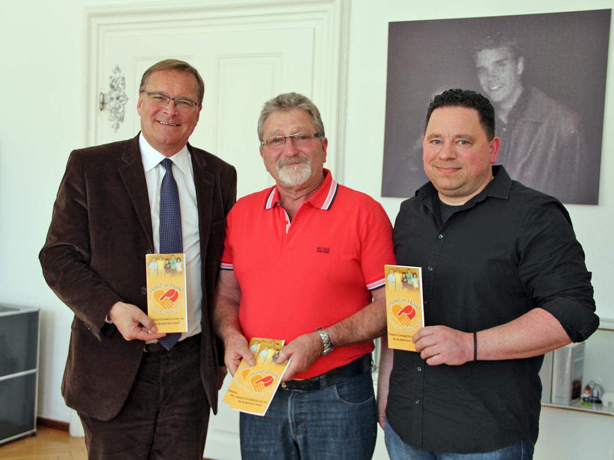 Besuch bei Oberbürgermeister Andreas Starke – 100. Mitglied des Fördervereins