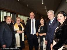Vorsitzender G. Kolb und Schriftführerin M. Fries vom Förderverein im Gespräch mit Herrn Bürgermeister K. Homann und Gattin aus Hirschaid, sowie M. Grassmann nebst Gattin beim Neujahrsempfang Wirtschaftsclub e.V.