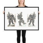 Bounties of Bathos – Crow King Framed photo paper poster