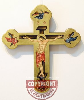 Crucifixion-45x40-hand-painted-wooden-cross