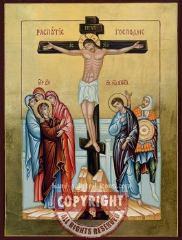 Crucifixion-hand-painted-icon-Orthodox-icon