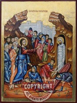 Raising of Lazarus-hand-painted-icon-28x21