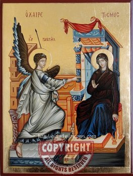 The Annunciation of The Theotokos-hand-painted-icon-28x21