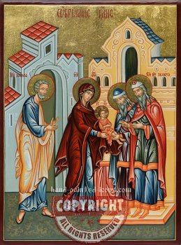 The Circumcision of our Lord and Savior Jesus Christ-hand-painted-icon (v2)