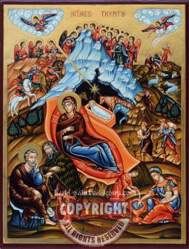 The Nativity-hand-painted-icon-40x30