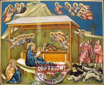 The Nativity-hand-painted-icons-Malta-38x46