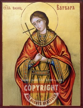 Saint Barbara-hand-painted-icon