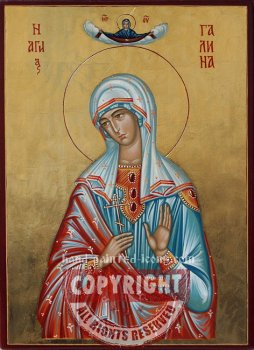 Saint Galina- hand-painted-icon