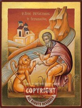Saint Gerasimos-hand-painted-icon-28x21cm