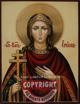 Saint Irina-hand-painted-icon