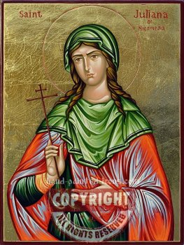 Saint Juliana of Nicomedia-hand-painted-icon