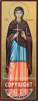 Saint Monica-hand-painted-icon-28x10cm