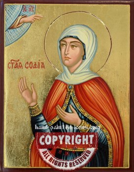 Saint Sophia-hand-painted-icon