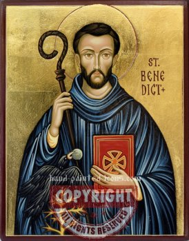 St Benedict-hand-painted-icon-v2