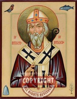 St Kentigern- hand-painted icon