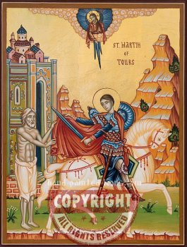 St Martin of Tours-hand-painted-icon