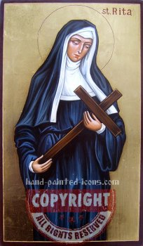 St Rita - hand-painted icon
