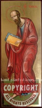 Saint Apostle Paul in fullheight-hand-painted-icon-v2