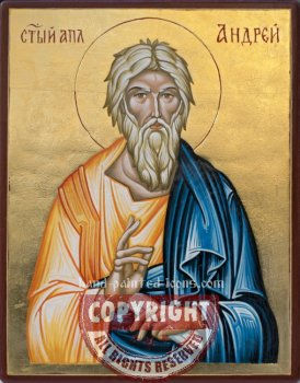 St Apostle Andrew-hand-painted-icon-v2