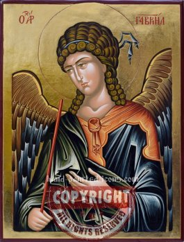 St Archangel Gabriel-hand-painted-icon-v3