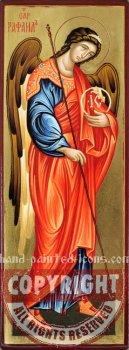 Saint Archangel Raphael- hand-painted icon-28x10cm