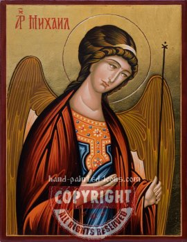St Archangel Michael-hand-painted-icon-v1