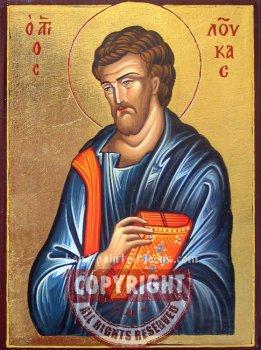 St Luke - Apostle and Evangelist- hand-painted icon