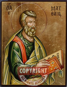 St Matthew the Apostle- hand-painted icon