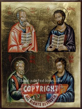 The four Evangelists-hand-painted icon