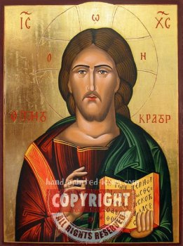 Christ Pantocrator-v7-hand-painted-icon