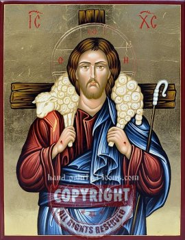 Christ-The Good Shepherd-v2-hand-painted-icon
