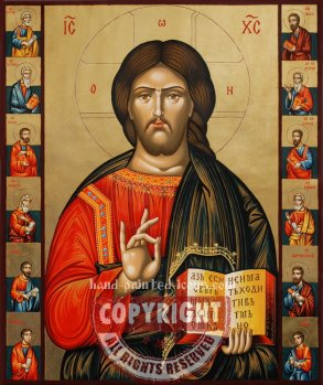 Jesus Christ and Apostoles-hand-painted-icon-60x50