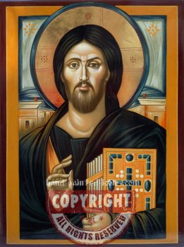 Jesus Christ-icon-from-Sinai-hand-painted