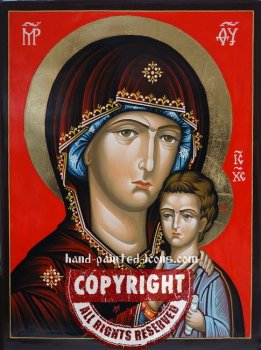 The Holy Virgin of Petrovsk-Petrovskaya-hand-painted-icon