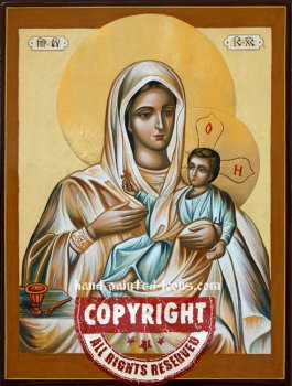 The Kozelshchansk Icon of the Mother of God-hand-painted