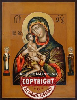 The Mother Of God-Fleece irrigated-hand-painted-icon