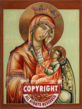 The Mother of God Satisfy My Sorrows-hand-painted-icon