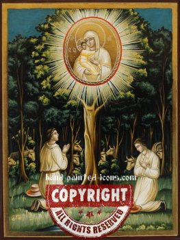Virgin Mary Zirovitskaya (Finding)-hand-painted-icon