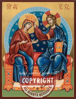Coronation of the Virgin-hand-painted-icon