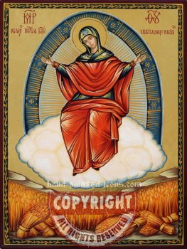 Mother of God-Provider of the Bread of Life-hand-painted-icon