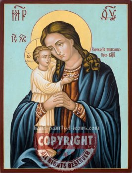 The Holy Virgin- Recovery of the dead-hand-painted-icon