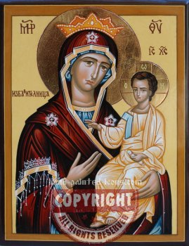 The Mother of God- The Savior-hand-painted-icon
