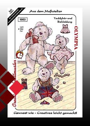 Schnittmuster Bären gr1003