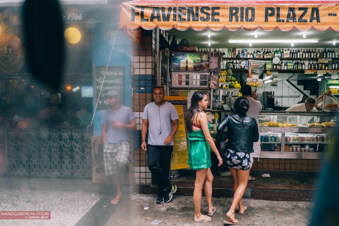 cariocas outside a shop rio de janeiro brazil