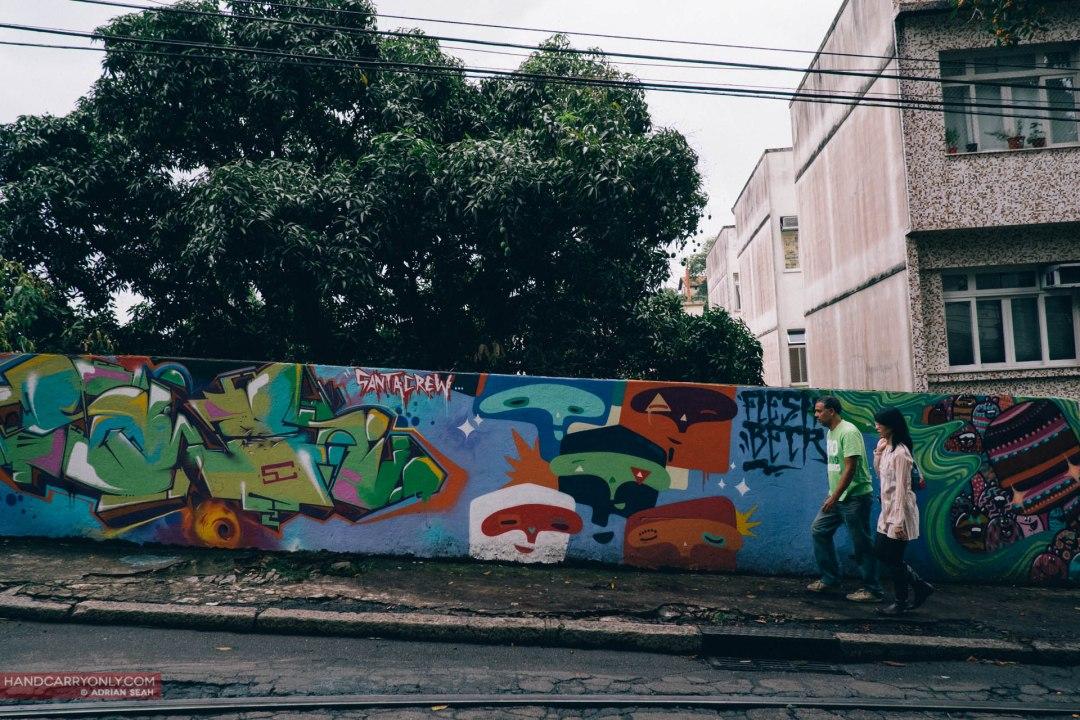 Local graffiti artists Santa Crew  rio de janeiro brazil